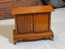 Miniature Dollhouse Furniture Vintage Wood Hall Cabimet Sofa or Media Cabinet