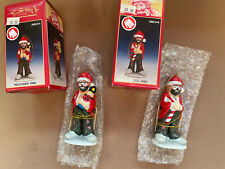 Set Of 2 Emmett Kelly Jr. Christmas Ornament Clown Original Box Flambro New!