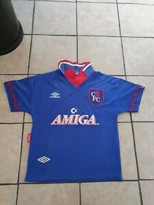 Vintahe Chelsea 1994 Original Home Football Shirt Amiga commodore  S