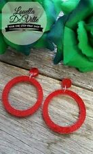Rockabilly Hoop Fashion Earrings