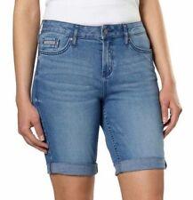 ae8203465437 Calvin Klein Jeans Ladies' Denim Bermuda Short, Blue - Joel 412, Size 6