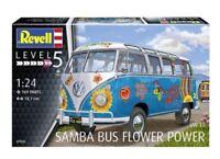 KIT REVELL 1:24 FURGONCINO VOLKSWAGEN T1 SAMBA BUS FLOWER POWER ART. 07050