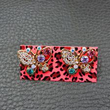 Rhinestone Butterfly Stud Earrings Jewelry New Betsey Johnson Alloy Crystal
