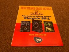 "(RSM16) ADVERT/POSTER 12x10"" STARGATE SG-1"