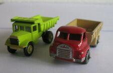 Matchbox Lesney Bedford Tipper no. 40A and Quarry dumper no. 6A Code 3