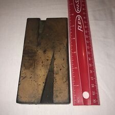 Vintage Letterpress Wood Type Printers Block Letter N 5 Tall