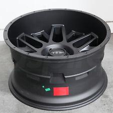 20x12 Satin Black Wheels Vision 388 Shadow 6x5.5/6x139.7 -51 (Set of 4)