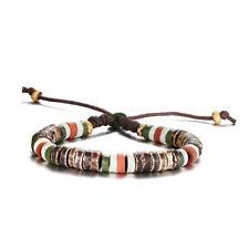 Vintage Men Man Bracelet Natural Stone Charm Beaded Wristband Adjustable Jewelry