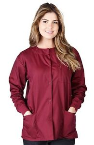 Unisex 3-Pocket Medical Hospital Nursing Warm Up Scrub Jacket G102