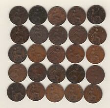 More details for 25 edward vii farthings 1902 to 1910 in good fine or better condition