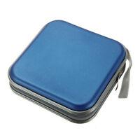 40 Disc CD DVD Storage Case Organizer Holder Box Hard Wallet Album Blue