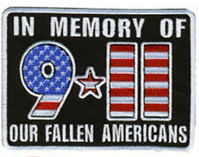 9-11 In Memory of fallen EMBROIDERED  4.0 INCH  iron on PATCH