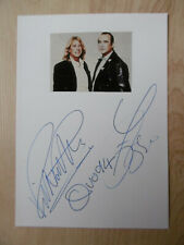 "Francis Rossi & Rick Parfitt ""Status Quo Autogramme signed 10x15 cm Karteikarte"