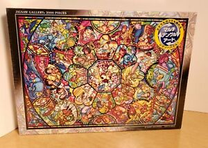 NEW SEALED Tenyo Disney All Character Stained Glass Look Jigsaw Puzzle 2000 PCS.