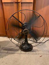 Vintage Antique Working WESTINGHOUSE Desk Shelf Oscillating Fan - Blacke330