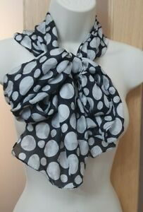 Authentic East Black and white Sample Scarf. Soft and silky feel. Dramatic look