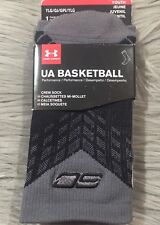 UNDER ARMOUR SC30 BASKETBALL Large Youth Men STEPH CURRY UNDENIABLE SOCKS Gray