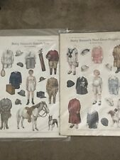 2 Betty Bonnet's Vintage Paper Dolls Sisters Son And Next Door Neighbor