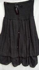 Crossroads Black ROMANTIQUE Hitch hem bubble SKIRT / DRESS size 10 NEW