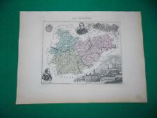 TARN & GARONNE CARTE ATLAS MIGEON Edition 1885, Carte + fiche descriptive