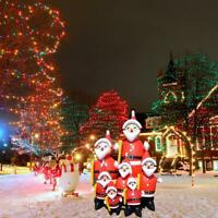 1x Christmas Inflatable Cute Santa Claus Yard Decor For Xmas Party Decoration