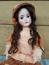 "Antique German Bisque Head Doll 24"" Gans & Seyfarth ~ Stunning Beauty!"