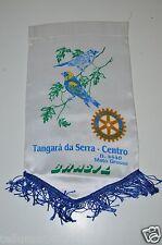 Vintage Tangara Da Serra Centro Brazil Rotary International Club Banner Flag