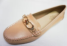acbb847b2ad4 Coach A1167 Fortunata MOC Toe Pearlized Patent Leather Loafer Shoes 5.5