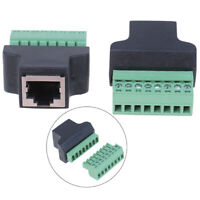 RJ45 to Screw Terminal Adaptor RJ45 Female to 8 Pin connector  for CCTV  ME