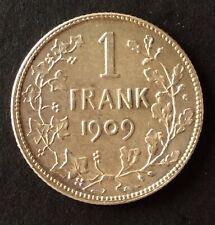 Belgique - Léopold II -  Superbe   monnaie de  1  Franc  1909 VL