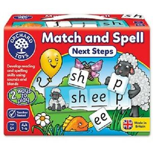 MATCH & SPELL next steps - ORCHARD TOYS childrens memory game home learning  New