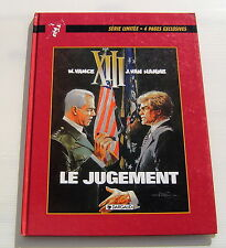 XIII . Le jugement . VANCE , VAN HAMME . EDITION PUBLICITAIRE SCHWEPPES