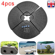 More details for set of 4 parasol base weight outdoor umbrella cantilever sand water filled stand
