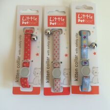 kitten Safety Collar with Bell - Stars Design (different colours available)
