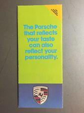 1980 Porsche Accessories Showroom Sales Folder, Brochure, Prospekt RARE! (Green)