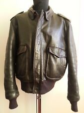 SCHOTT I.S. 674 M.S  VINTAGE AVIATOR FLIGHT LEATHER JACKET PELLE