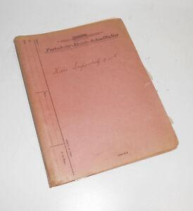 Mappe Dokumente Großpostwitz Bautzen 1913 -1959 Lageplan ! (D