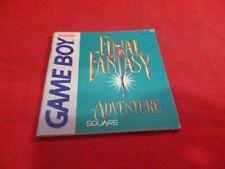Final Fantasy Adventure Nintendo Game Boy Instruction Manual Booklet ONLY #B1