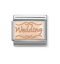 Nomination Charm Rose Gold Wedding Plate RRP £18