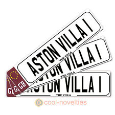 "MINI NOVELTY NUMBER PLATE / BOOKMARK "" ASTON VILLA 1 "" SUPER GIFT FOR FOOTY FANS"