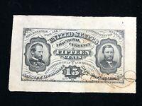 US Fractional Note Specimen 15 Cents Wide Margin  FR 1275 SP VF Allison-Spinner
