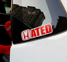 Hated Performance Racing Drift Funny 3M Reflective Vinyl Sticker Decal Fit Honda