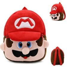 Red Mario Mini BagSchool Backpack Travel Leather Fashion Bags Handbag Animal Kid