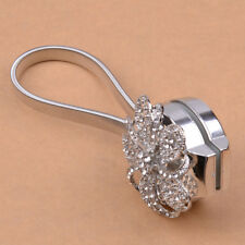 A PCS Retractable Magnetic Flower Curtain Tiebacks Tie Backs Crystal Clips