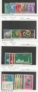 Indonesia, Postage Stamp, #B83-7, B104-6, B138-41, B154-5, B160-4 Used