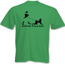 Johnnie Walk-Her (Walker) ~ Mens Funny Whisky Parody T-Shirt