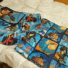 Star Wars Rebels Twin Bed Sheet Set 4 Pc - Fitted Flat Pillowcase Comforter EUC