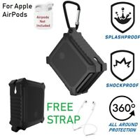 Heavy Duty For AirPods Case Protective Silicone AirPod Earphone Charging - Black