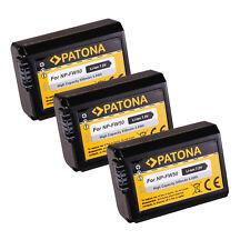 3X Akku PATONA f. Sony NP-FW50, A7/S/R, A3000 Α6000, Α6300 ALPHA 6300, ILCE-6300