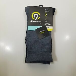 C9 Champion Womens Outdoor Crew Liner Wool Blend Socks 2 pair Shoe Size 5-9